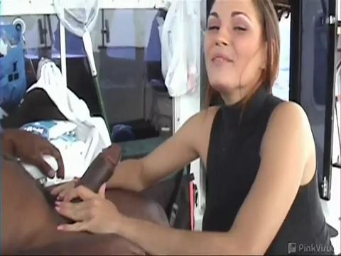 Crystal was cool with coming along for the boatride She was cool with getting freaky on the boat with 2 big black cocks Wait until you see her reaction when we tell her she was gonna be on the internet