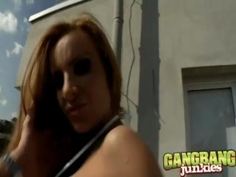 Bonny Bon gang bang video from Gang Bang Junkies
