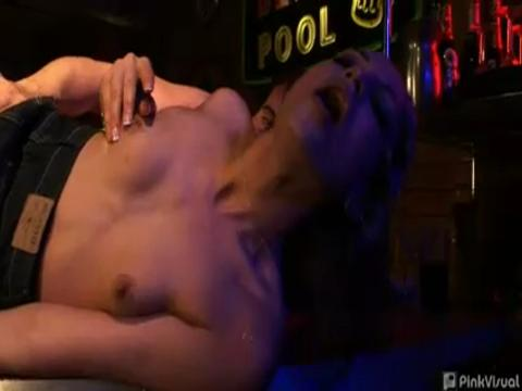 Amber Rayne double penetration video from Her First DP