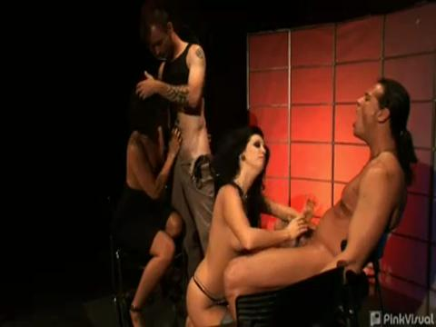 Jandi Lin, Roxy Deville swingers video from Rookie Swingers