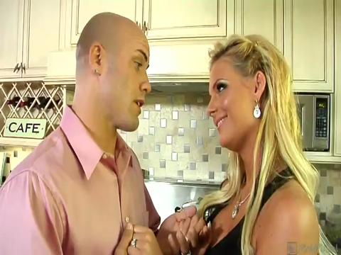 Derrick is in danger of losing his job so he invites the boss and the boss wife over for dinner But his higher up isnt interested in the meatloaf he wants Phoenix Derricks hot wife So these two horny husbands make a deal Swap their busty blonde wives in a hot group fuck By the time sweet Phoenix is being drenched in cum Derricks job is 100 secure