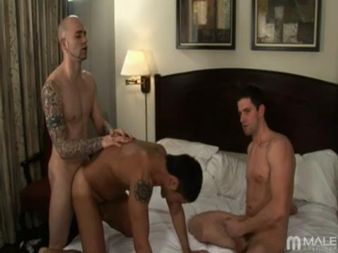 Sam Swift, Johnny Maverick, Kevin Costa gay group sex video from Gay Orgy XXX