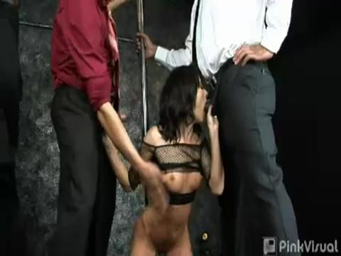 Cecilia Vega gang bang video from Gang Bang Junkies