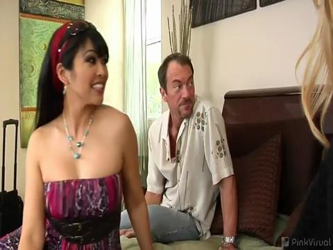 Lexi Lamour, Mika Tan swingers video from Rookie Swingers
